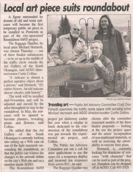 News Article from the Penticton Western on October 31st 2005